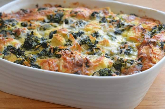 Spinach & Cheese Strata