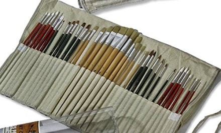 Art Owl Studio – Oil, Acrylic and Watercolor Paint Brushes, 36-piece – Free Versatile Canvas Pouch