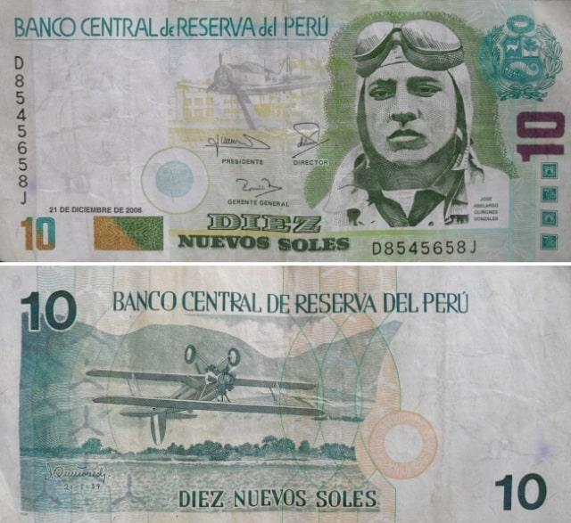 Old 10 nuevo sol note