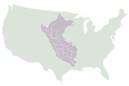 Peru compared with the USA