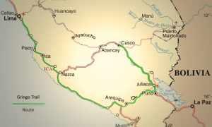 Peru Gringo Trail map