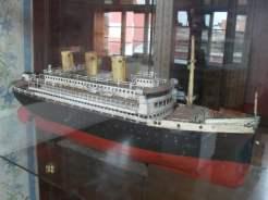 Transatlantic passenger ship model