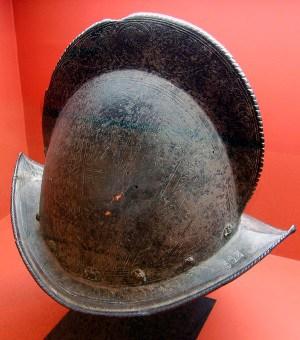 Spanish conquistador morion helmet