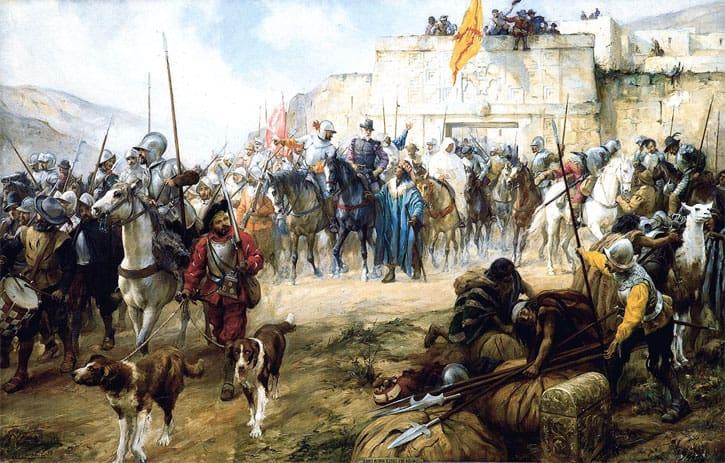 Diego de Almagro and conquistadors