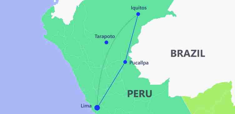 Jungle trail - Itinerary Peru