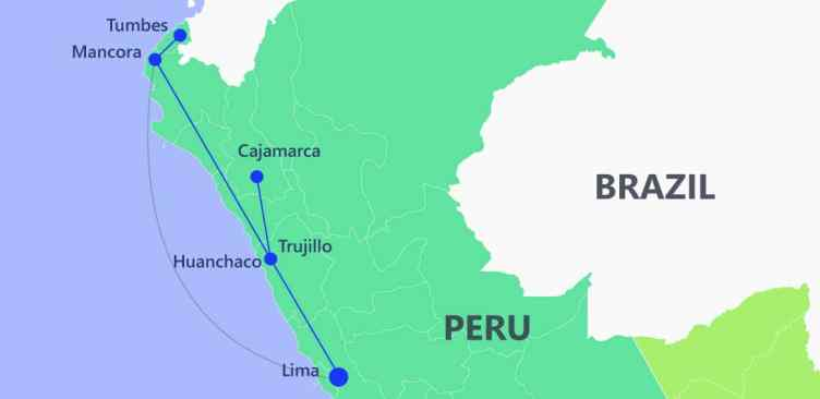 Beach trail - Itinerary Peru