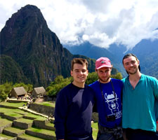 Wearing the Hopster t-shirt on Machu Picchu