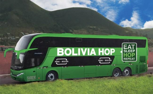 Peru Bolivia border - Bolivia Hop bus
