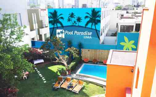 pool paradise lima hostel - pool hostel lima