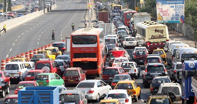 Traffic jam in Lima