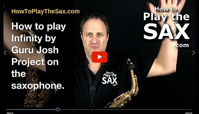 How To Play Infinity by Guru Josh Project On The Saxophone