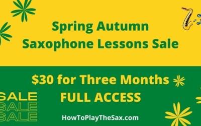 Spring Autumn Saxophone Lessons Sale