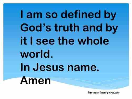 PRAYER: I AM DEFINED BY TRUTH