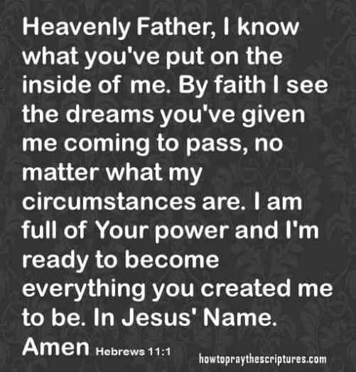 by faith is see my dreams hebrews 11-1