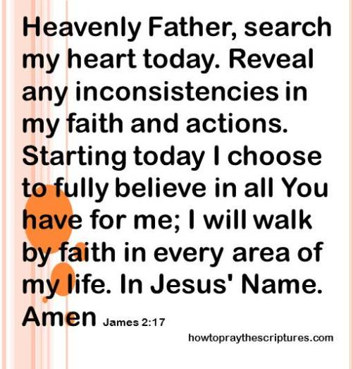 search my heart today james 2-17