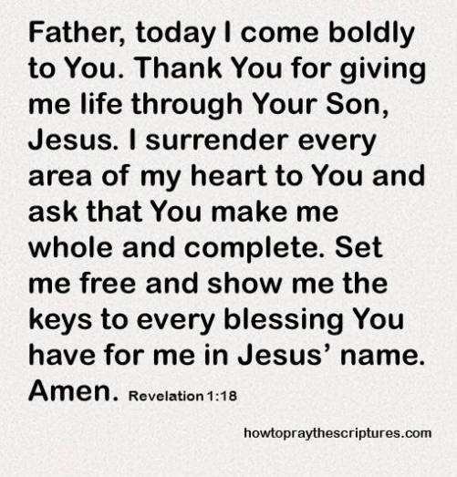 I come bodly to you Lord revelations 1-18