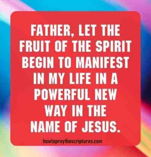 Prayer For The Fruit of The Spirit