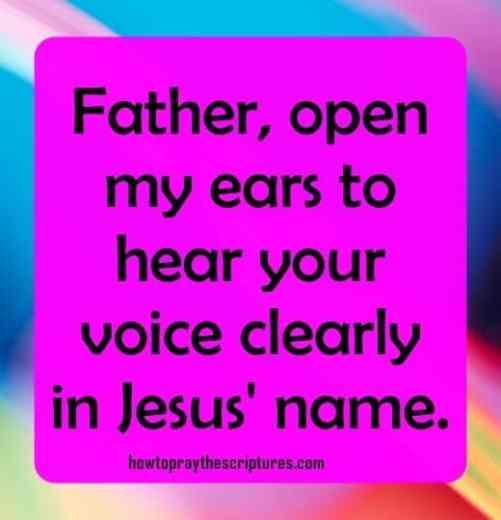 I hear the voice of God