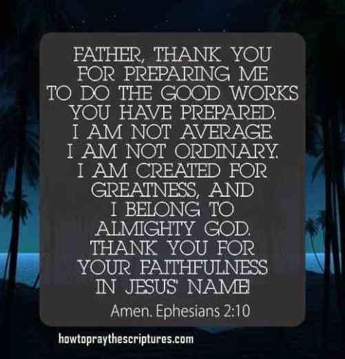 How To Pray Ephesians 2:10