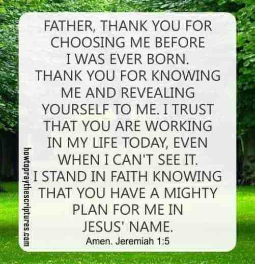 How To Pray Jeremiah 1:5