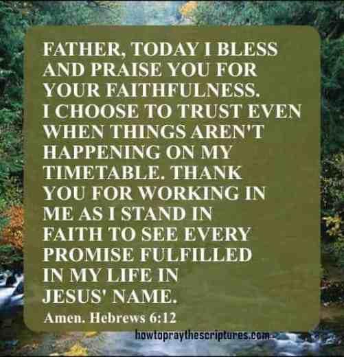 How To Pray Hebrews 6:12