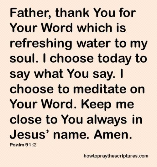 thank you for your word which psalm 91-2