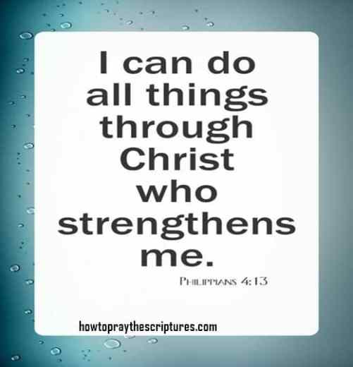 Philippians 4:13 Bible Verses For Hard Times