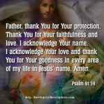 Prayer To Thank God For His Protection