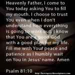 Prayer To Trust Even When You Dont Understand