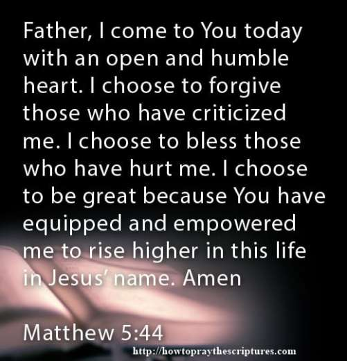 Prayer To Forgive And Bless Others