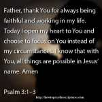 Prayer To Choose To Focus On God In Everything