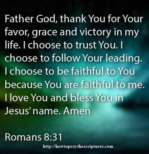 Prayer Of Favor From Our Lord