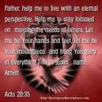 Prayer To Give Glory To God In Everything