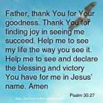 Prayer To Declare Blessing And Victory