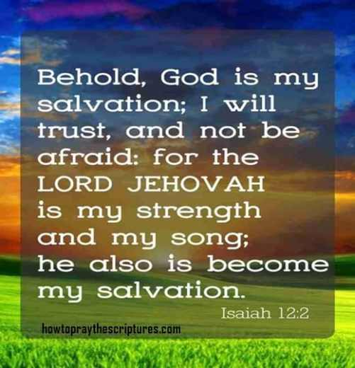 Behold God Is My Salvation I Will Trust And Not Be Afraid