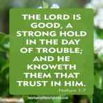 The Lord Is Good A Strong Hold In The Day Of Trouble
