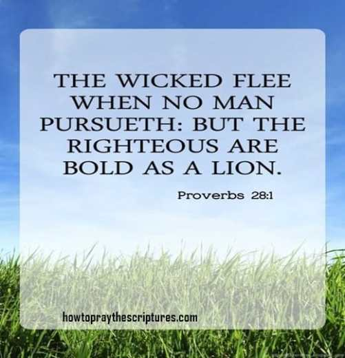 The Wicked Flee When No Man Pursueth