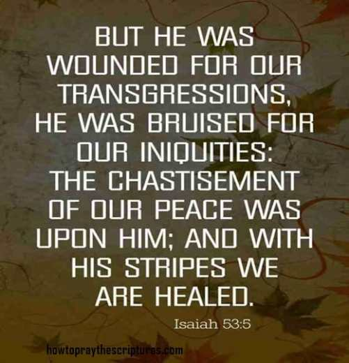But he was wounded for our transgressions