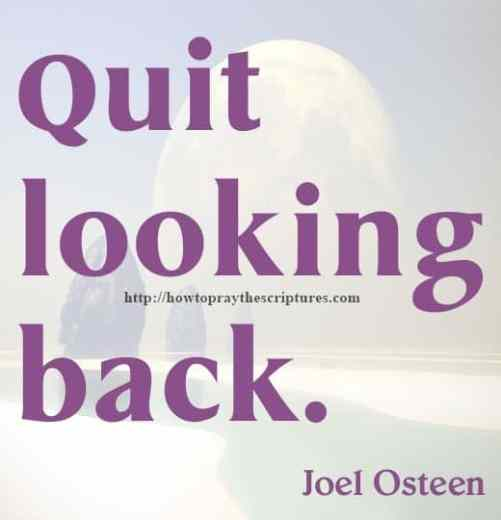 quit looking back