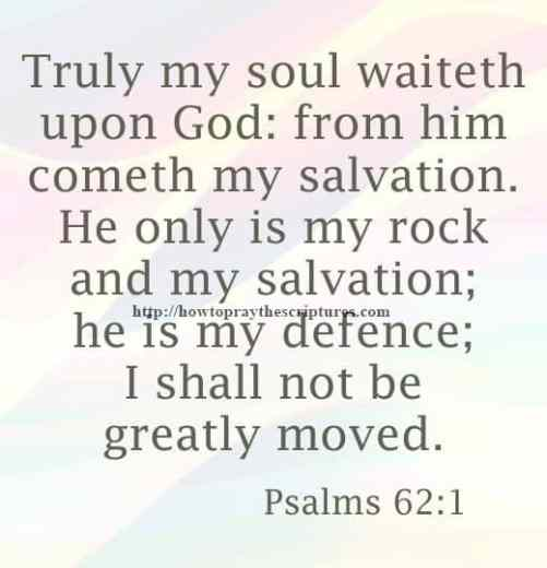 Truly My Soul Waiteth Upon God Psalms 62-1