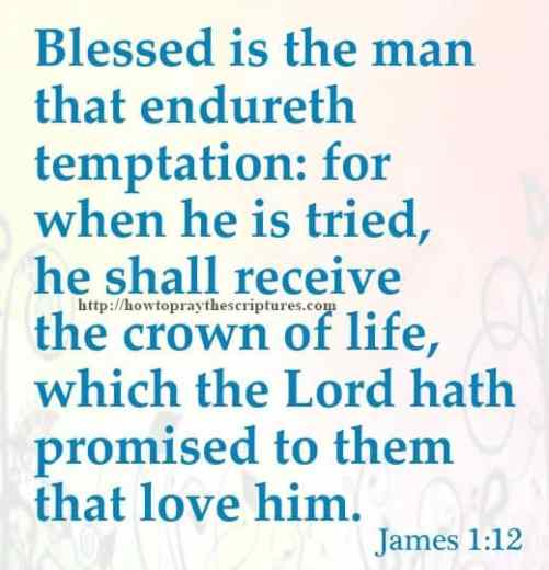 Blessed Is The Man That Endureth Temptation James 1-12