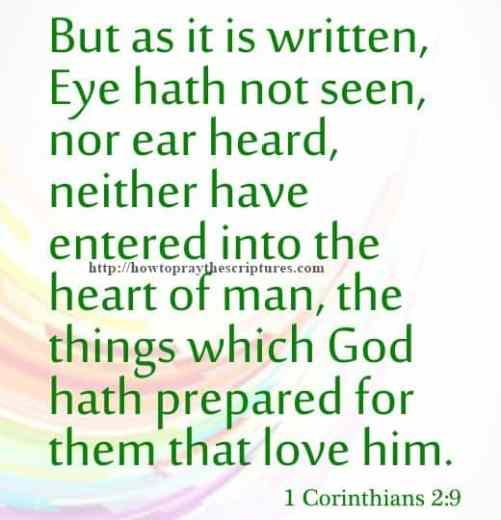 But As It Is Written Eye Hath Not Seen 1 Corinthians 2-9