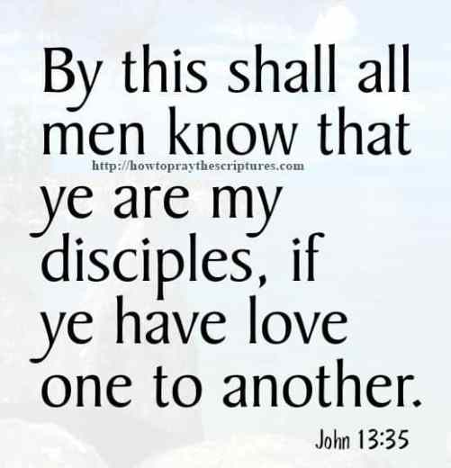 By This Shall All Men Know John 13-35