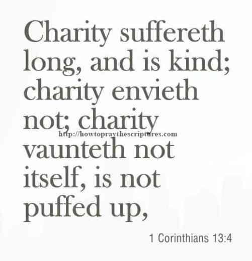 Charity Suffereth Long And Is Kind 1 Corinthians 13-4