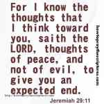 For I Know The Thoughts That I Think Jeremiah 29-11