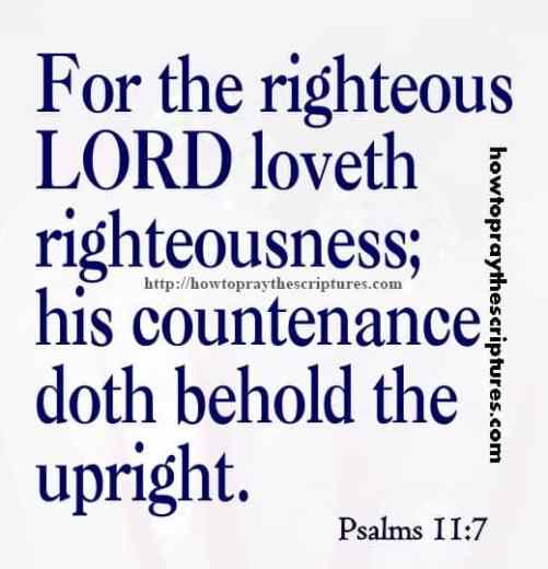 For The Righteous LORD Loveth Psalms 11-7