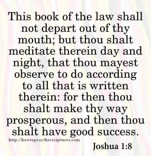 This Book Of The Law Shall Not Depart Joshua 1-8