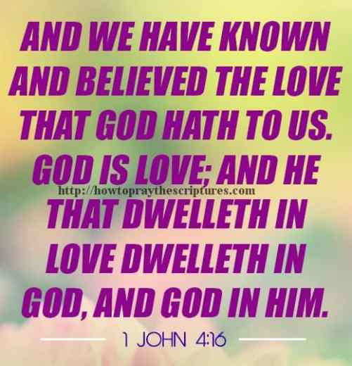 And We Have Known And Believed 1 John 4-16