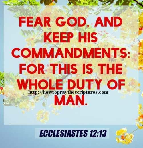 Fear God And Keep His Commandments Ecclesiastes 12-13