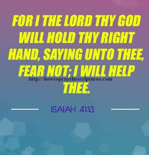 For I The LORD Thy God Will Hold Isaiah 41-13